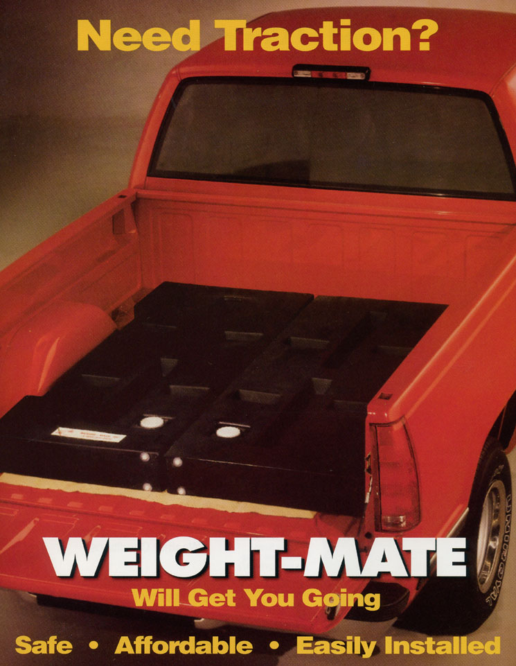 Weight-Mate, Inclement Weather Ballast, Pick Up Truck Traction, Sandbag Replacement, Weight for Trucks
